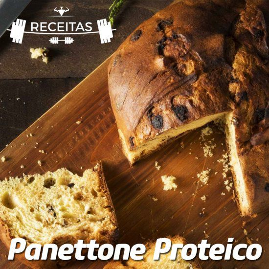 Panetone saudável e proteico.
