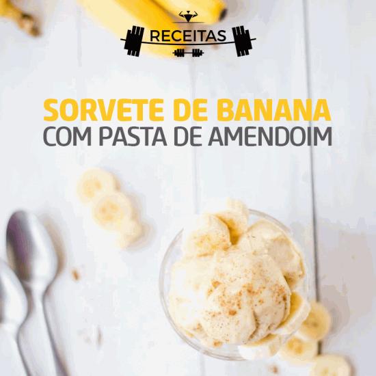 Sorvete de Banana com Pasta Integral de Amendoim