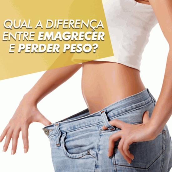 Existe diferença entre perder peso e emagrecer?