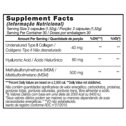 Joint Flex - Tabela Nutricional